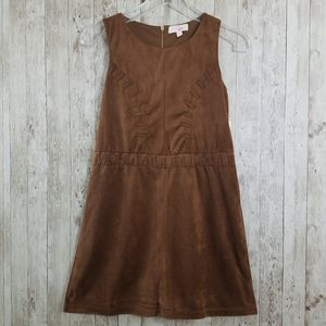 NEW GB Girls Faux Suede Sleeveless Fall Dress